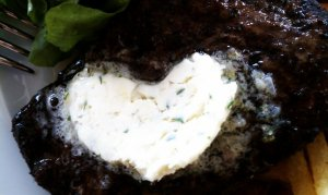 butter on steak heart