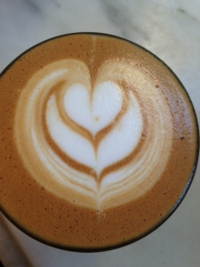 Toby's Estate, cortado, coffee, latte art, heart, art