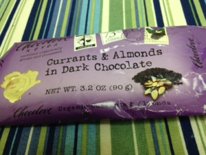 chocolove currants almonds dark chocolate