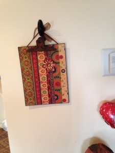 magnetic clipboard, Pier 1 imports, no clutter