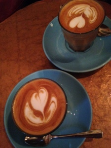 Bluebird cafe, cortados, coffee